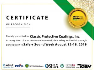 Safe And Sound Week Cert