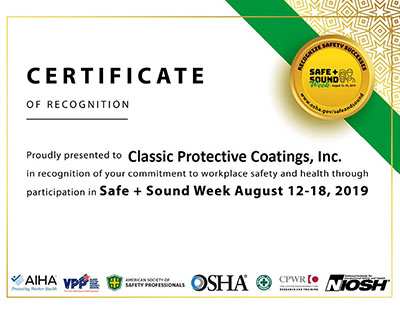 Safe And Sound Week Cert 400